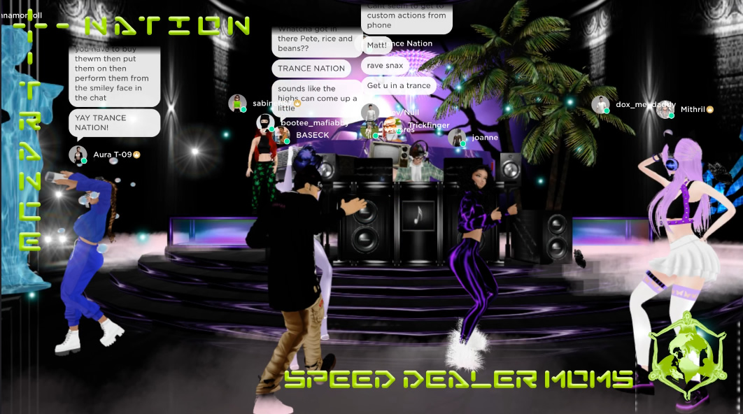Speed Dealer Moms at Nu:cenosis visualisation screengerab
