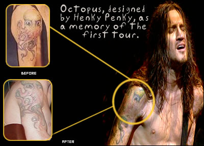John Frusciante right shoulder octopus tattoo